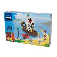 PLUS - Instructed Play Set 360 Piece Pirates Construction Building Stem Toy Interlocking Mini Puzzle Blocks for Kids
