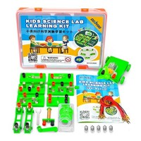 OSOYOO Science Project Learning Kit   Electricity Magnetism Circuit Building Experiment   Parallel Energy Problem Solving Set for Students   Stimulate Early STEM Intelligence IQ for Kids Girl Boy