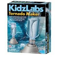 4M 5554 KidzLabs Tornado Maker Science Kit DIY Weather Cyclone Typhoon Hurricane - STEM Toys Educational Gift for Kids & Teens Girls Boys