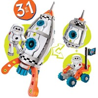 Bloco Toys 3 in 1 Galactic Mission STEM Toy Astronaut Spacecraft Shuttle Rocket DIY Building Construction Set 210 Pieces