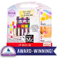 Project Mc2 Create Your Own Lip Balm Lab by Horizon Group USA DIY STEM Science Kit Mix & Make 5 Flavored balms