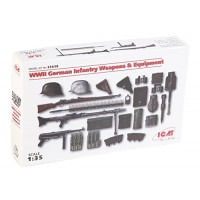ICM 1 35WWII Weapons and Equipment 035638 German Infantry Plastic Model Kit