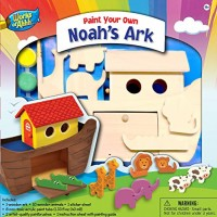 MasterPieces Works of Ahhh Premium Real Wood Acrylic Paint & Craft Kit Noah's Ark For Ages 4+