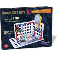 Snap Circuits 3D Illumination Electronics Exploration Kit Over 150 STEM Projects Full Color Project Manual 50+ Parts Educational Toys for Kids 8+