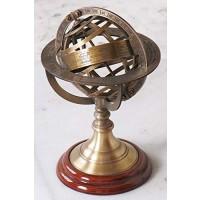 Nagina International Antique Finish Nautical Decor Armillary Zodiac Sphere Globe 9 Home Decorative