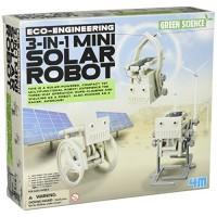 4M 3-in-1 Mini Solar Robot STEM Toys DIY Green Science Eco-Engineering Building Kit Gift for Kids 3 in 1