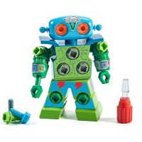 Educational Insights Design & Drill Robot Kid-Powered Introduction to STEM for Preschoolers Great Gifts Boys Girls 3+