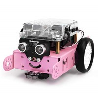 Makeblock mBot Robot Kit for Kids Ages 8+ DIY Mechanical Building Block STEM Education Entry-Level Programming Improves Kids' Logical Thinking and Creativity Pink Bluetooth Version Family