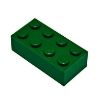 LEGO Parts and Pieces Dark Green Earth Green 2x4 Brick x50