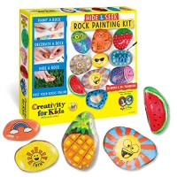 Creativity for Kids Hide & Seek Rock Painting Kit - Arts Crafts Includes Rocks Waterproof Paint