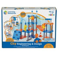 Learning Resources City Engineering and Design Building Set Engineer STEM Toy 100 Pieces Ages 5+Multi-color