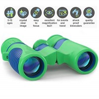 Kids Binoculars with HIGH Power - Professional Optics Compact Easy & Shock Proof Bird Watching Science Telescope Children's Toys Hiking Hunting Educational for Boys and Girls USA