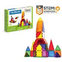 Tileblox Rainbow 42pc Set Magnetic Building Blocks Educational Tiles Kit Construction STEM Toy