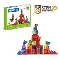 Tileblox Rainbow 104pc Set Magnetic Building Blocks Educational Tiles Kit Construction STEM Toy