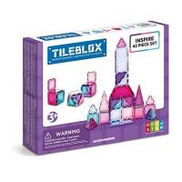 Tileblox Inspire 42 Piece Set Magnetic Building Blocks Educational Tiles Kit Construction STEM Toy