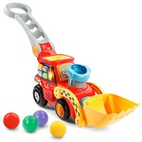 VTech Pop-a-Balls Push and Pop Bulldozer Amazon ExclusiveRed