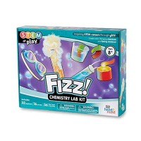 FIZZ Chemistry Science Kit for Kids Ages 8+ - Build 32+ STEM Career Experiments and Activities Make Your Own Foam Crystals Magic Tricks More Educational Toys Authenticated