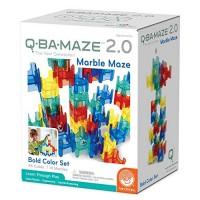 MindWare Q-BA-MAZE marble run: Bold Colors 50+ piece set