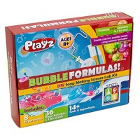 Playz DIY Make Your Own Soap Activity Set w Chemical Reactions - Arts & Crafts Science Kit for Kids 12+ Soaps STEM Educational Lab Guide and Ingredients Included Girls Boys Teens