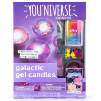 YouNiverse Galactic Gel Candles by Horizon Group Usa Stem Science Kit Make Your Own Starry Gooey Slime 4 LED Included Pink Blue Purple