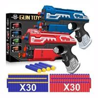 POKONBOY 2 Sets Blaster Toy Guns for Boy Foam Bullet Toy Gun with 60