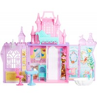 Disney Princess Pop-Up Palace Castle Playset with Handle and 13 Accessories 5 Rooms 2
