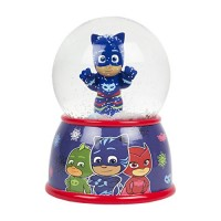 FAB Starpoint Disney PJ Masks Gekko Blue Christmas Snow Globe Coin Bank