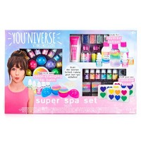 YouNiverse Super Spa Set by Horizon Group Usa Ultimate DIY STEM Science Kit Make Your Own Lip balms Shimmer Lotions & Rainbow Soaps Multicolored
