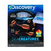 Discovery Kids Prehistoric Sea Creatures by Horizon Group USA Great Stem Science Kit Creature Eggs Food Aquarium Natural Sand & Poster Included