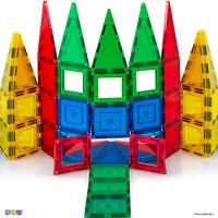 Magees Magnetic Building Blocks 35 Set - Magnet Toys Strongest Magnets Tiles Includes Bonus 5Piece Insert# Cards STEM 3D Best Gift Original by