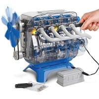 Discovery Kids DIY Toy Model Engine Kit Mechanic Four Cycle Internal Combustion Assembly Construction Comes W Valves Cylinders Hardware & Much More Encourages STEM Creativity Critical Thinking