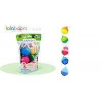 Lalaboom BL100 Step-by-Step Developmental Activity Beads 12 Piece Set Pop Twist Mix Stack and Lace Montessori Method STEM Focus Dishwasher Safe - Ages 10 Months 3 Years
