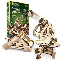 NATIONAL GEOGRAPHIC - Da Vinci's DIY Science and Engineering Construction Kit Build Three Functioning Wooden Models Catapult Bombard Ballista