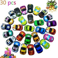 Pull Back Vehicles30 Pack Friction Powered Pull Back Car Toys  Vehicles and Racing