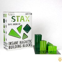 STAx 28pc Insane Magnetic Building Block Set Greens