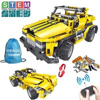 2-in-1 Remote Control Car Building Set STEM Learning Kits for Boys and Girls 6-12 Best Engineering Toy Gift Kids Ages 78914 Year Old 426pcs