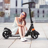 kids/Adult Scooter with 3 Seconds Easy-Folding System 220lb Folding Adjustable Scooter with Disc Brake