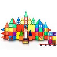 Mtlan VersaTiles Magnetic Tiles Building Set for Kids & Toddlers Blocks Construction Educational STEM Toy Imanes para Nios - 100 Piece