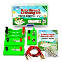 OSOYOO Science Electricity Experiment Kit for Kids Parallel Series Circuit Building Learning Project Energy Problem Solving Set Students STEM Physics Lab Girl Boy