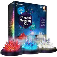 Crystal Growing Kit for Kids + LIGHT-UP Stand - Science Experiments Kits Craft Stuff Toys Teens STEM Projects Boys & Girls Grow Crystals and Make Them Glow