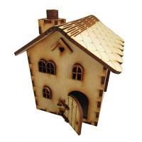 Fairy House Craft Kit with Opening Fairy Door Wooden Dollhouse Fairy Door Craft Kit