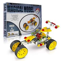 3 Bees & Me STEM Car Building Toy Kit for Kids 8 to 11 Years - 6 7 Can Do with Help Unique Fun