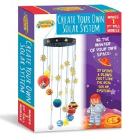 Peachy Keen Crafts DIY Make Your Own Solar System Mobile Kit - Complete Planet Model Set for Kids