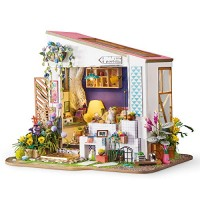 Rolife Dollhouse DIY Miniature Room Set-Wood Craft Construction Kit-Wooden Model Building Toys-Christmas Birthday Gifts