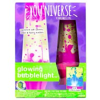 YOUNIVERSE Create Your Own Glowing Bubble Light by Horizon Group USA Built in Lamp DIY 7 Great Stem Science Experiments with Liquid Density Assorted Pink