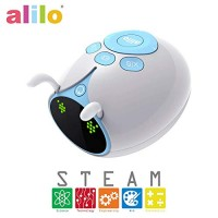 Alilo Blocky Scratch Drag and Drop Programming Language Visual Swift Coding Editor Robot STEM Learning Education Kids Toy interactive intelligent robotic play with 6 Modes Battery M7 Explorer Blue