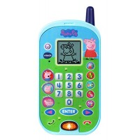 VTech Peppa Pig Let's Chat Learning Phone Blue