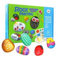 Jar Melo Rock Painting Kits for Kids; Non-Toxic; Hide and Seek Craft Art; Creative Colorful Magic Stone; Gift; Arts Crafts Adults Kids