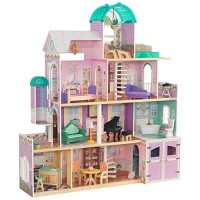 KidKraft Rosewood Mansion Dollhouse with EZ Kraft Assembly