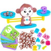 CoolToys Monkey Balance Cool Math Game for Girls & Boys Fun Educational Children's Gift Kids Toy STEM Learning Ages 5+ 64-Piece Set